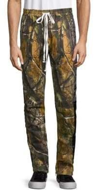 Camo-Print Twill Pants