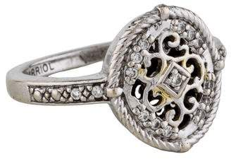 Charriol 18K Diamond Scrollwork Ring