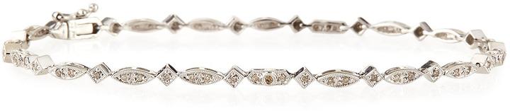 Sydney Evan Pave Diamond Oval & Diamond Bracelet