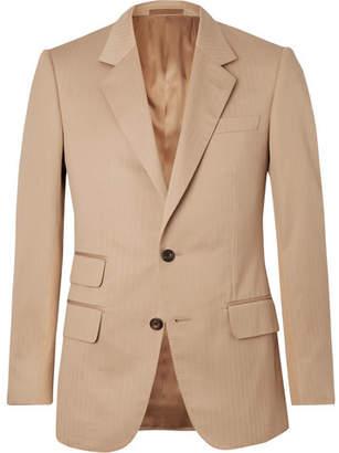 BEIGE Kingsman Eggsy's Herringbone Cotton Suit Jacket