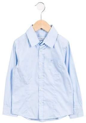 Simonetta Kids Boys' Pointed Collar Button-Up Shirt