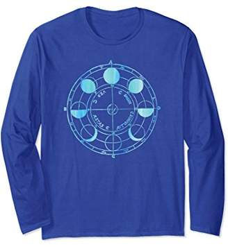 Vintage Blue Moon Phases Space Cool Science Gift Long Sleeve