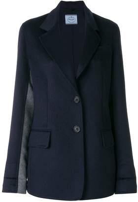 Prada contrast panel blazer