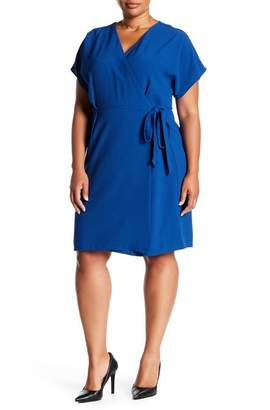 Bobeau Crepe Wrap Dress (Plus Size)