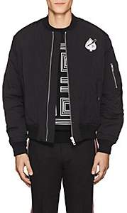 "Givenchy Men's ""Creature"" Tech-Twill Bomber Jacket - Black"