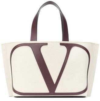 Valentino VLOGO Small canvas shopper