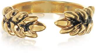 Aurelie Bidermann 18K Gold-Plated Two Cobs Wheat Ring