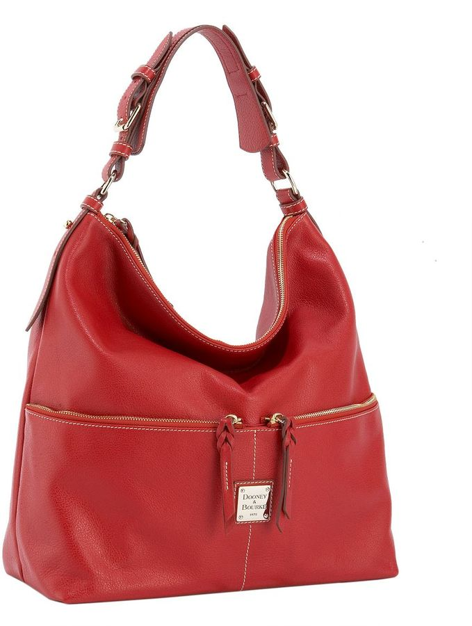 Dooney & bourke buffalo leather large shoulder bag