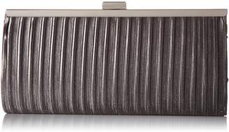 Jessica McClintock Laura Pleated Satin Framed Clutch Evening Bag