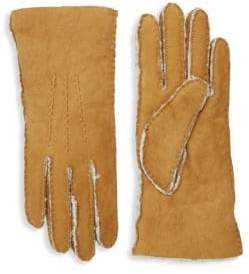 Portolano Dyed Shearling Lined Leather Gloves
