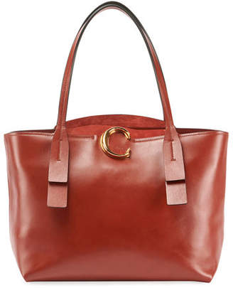 Chloé Shiny Leather Tote Bag