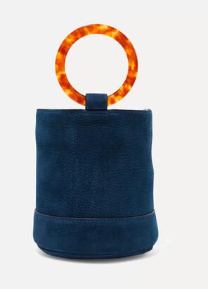 Simon Miller Bonsai 15 Mini Nubuck Bucket Bag - Navy