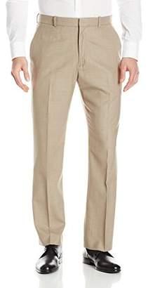 Perry Ellis Men's Solid Texture Flat Front Suit Pant