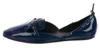 Bottega Veneta Patent Leather Round-Toe Flats