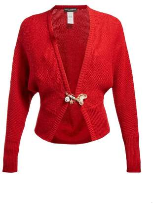 Dolce & Gabbana - Safety Pin Wool Blend Cardigan - Womens - Red
