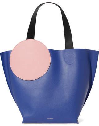Roksanda Eider Color-block Textured-leather Tote - Blue