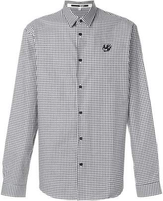 McQ swallow badge check shirt