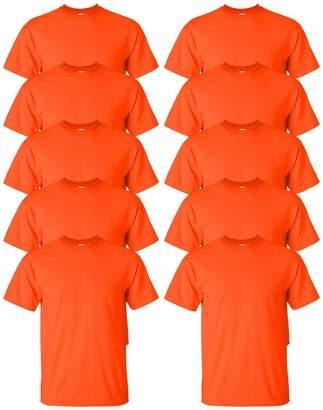 Gildan Mens Ultra Cotton 6 oz. T-Shirt(G200)-Sport GREY-L-10PK