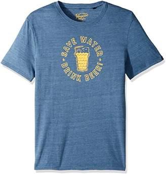 Original Penguin Men's Short Sleeve Save Water Drink Beer Graphic Tee