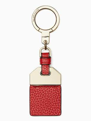 Kate Spade Leather tag keychain