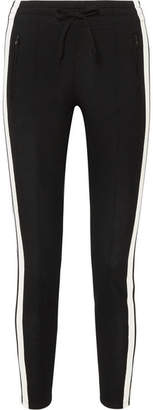 Etoile Isabel Marant Dario Striped Jersey Track Pants - Black