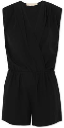 Vanessa Bruno Ibrah Wrap-effect Crepe Playsuit - Black
