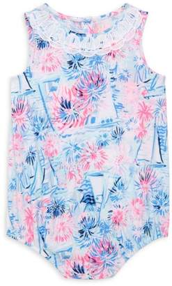 Lilly Pulitzer Baby Girl's May Palm Print Bodysuit