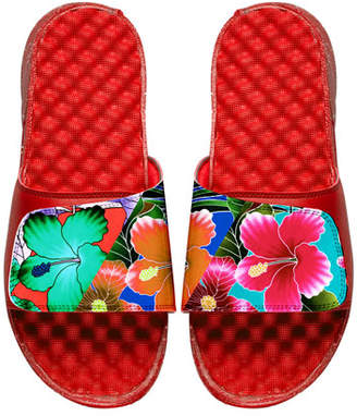 ISlide Men's Tropical Floral Slide Sandals