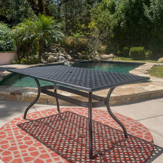 Co Darby Home Burrowes Aluminum Rectangle Table