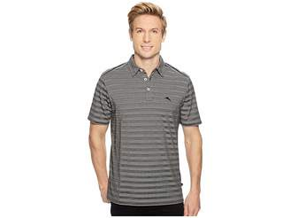 Tommy Bahama Tropicool Tides IslandZone Striped Polo Men's Clothing