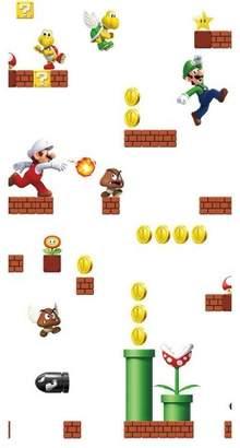 Nintendo Super Mario Rommates Super Mario Peel & Stick Wallpaper