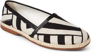 Dolce & Gabbana Khaki & Black Geometric Espadrilles