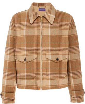 Ralph Lauren Harvick Plaid Wool and Cashmere-Blend Jacket