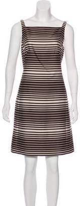 Akris Punto Stripe Print Mini Dress