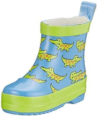Playshoes Unisex Kids' Krokodil Naturkautschuk Water Shoes, (Blue 7), 5.5 Child UK 22 EU