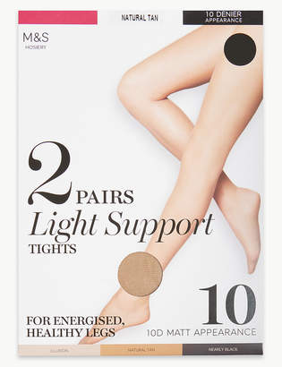 f87b829cd17 M S CollectionMarks and Spencer 2 Pair Pack 10 Denier Tights