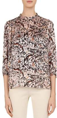 Gerard Darel Lou Abstract Animal Print Blouse