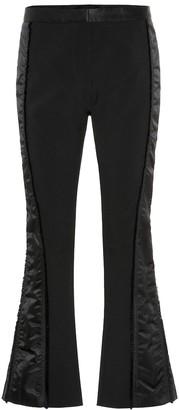Thierry Mugler Side-striped slim crepe pants