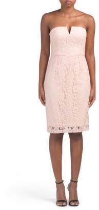 Quinn Strapless Lace Dress