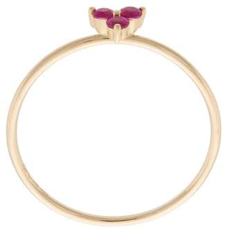 Ef Collection ruby trio stack ring