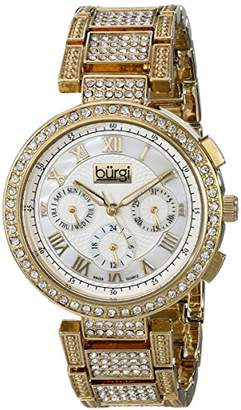 Burgi Women's Quartz Watch with Mother of Pearl Dial Analogue Display and Gold Alloy Bracelet BUR123YG