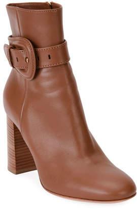 Gianvito Rossi Chunky-Heel Leather Booties