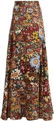 Peter Pilotto Floral-print silk maxi skirt