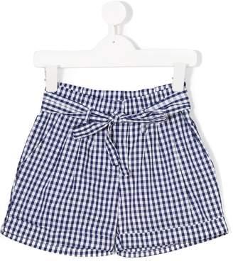 Miss Blumarine gingham bow shorts