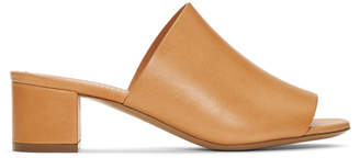 Mansur Gavriel Tan Leather Mules