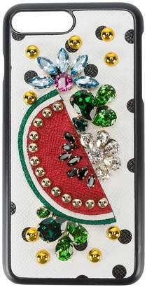Dolce & Gabbana crystal embellished iPhone 7 plus case