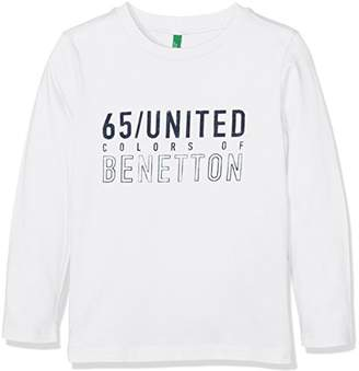 Benetton Boy's L/s T-Shirt,(Manufacturer Size: X-Large)