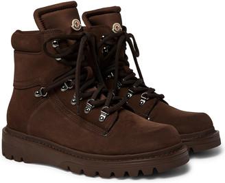 Moncler Egide Suede and Nylon Boots - Men - Brown