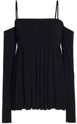Bailey 44 Zombie Cold-Shoulder Stretch-Modal Jersey Top