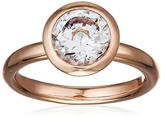 Hot Diamonds Emozioni by Riflessi Rose Gold Plated Ring - Size L